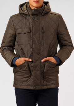 Куртка утепленная, Finn Flare, цвет: хаки. Артикул: MP002XM23W43. Одежда / Верхняя одежда / Демисезонные куртки