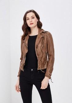 Куртка кожаная, Blue Monkey, цвет: коричневый. Артикул: MP002XW0IXLO. Одежда / Верхняя одежда / Косухи