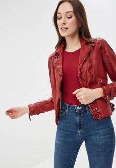 Куртка кожаная, Blue Monkey, цвет: красный. Артикул: MP002XW0IXLT.