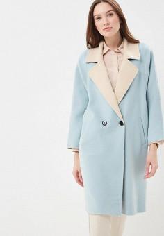 Пальто, Lorani, цвет: голубой. Артикул: MP002XW0IY06. Одежда