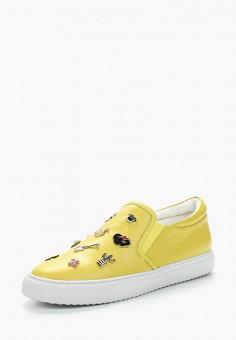 Слипоны, Vitacci, цвет: желтый. Артикул: MP002XW13HAF. Обувь