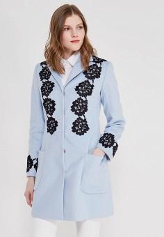 Пальто, Anastasya Barsukova, цвет: голубой. Артикул: MP002XW13NWU. Одежда