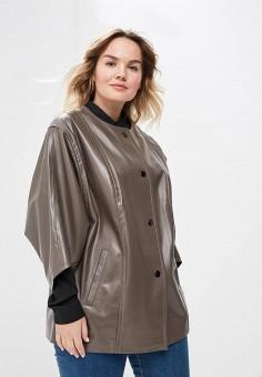 Куртка кожаная, Aliance Fur, цвет: коричневый. Артикул: MP002XW13R4B. Одежда / Верхняя одежда