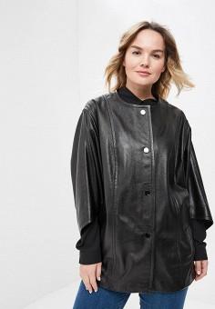 Куртка кожаная, Aliance Fur, цвет: черный. Артикул: MP002XW13R4D. Одежда / Верхняя одежда