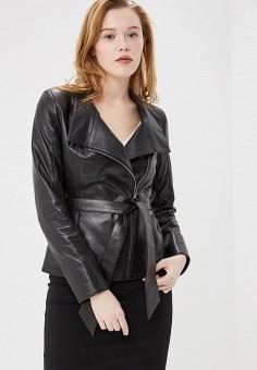 Куртка кожаная, Aliance Fur, цвет: черный. Артикул: MP002XW13R4G. Одежда / Верхняя одежда