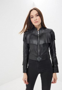 Куртка кожаная, Bos Bison, цвет: черный. Артикул: MP002XW13ZVI.