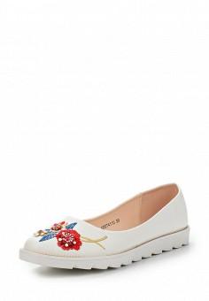 Балетки, T.Taccardi, цвет: белый. Артикул: MP002XW13ZYG. Обувь