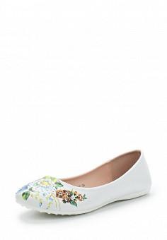 Балетки, T.Taccardi, цвет: белый. Артикул: MP002XW13ZYH. Обувь