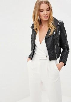 Куртка кожаная, La Reine Blanche, цвет: черный. Артикул: MP002XW15J59.