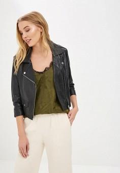 Куртка кожаная, La Reine Blanche, цвет: черный. Артикул: MP002XW15J5A. Одежда / Верхняя одежда / Косухи
