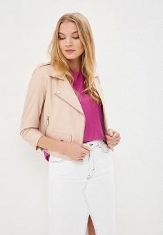 Куртка кожаная, La Reine Blanche, цвет: бежевый. Артикул: MP002XW15J5B.