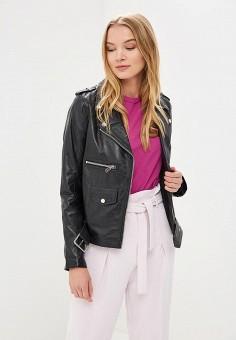 Куртка кожаная, La Reine Blanche, цвет: черный. Артикул: MP002XW15J5C.