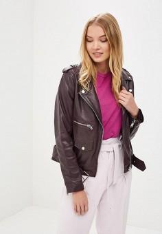 Куртка кожаная, La Reine Blanche, цвет: фиолетовый. Артикул: MP002XW15J5D.