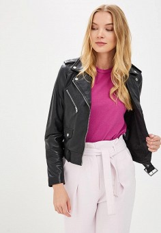 Куртка кожаная, La Reine Blanche, цвет: черный. Артикул: MP002XW15J5E.