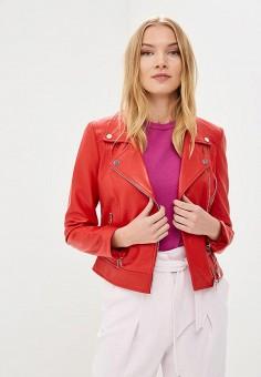 Куртка кожаная, La Reine Blanche, цвет: красный. Артикул: MP002XW15J5F.