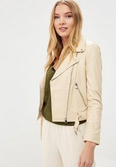 Куртка кожаная, La Reine Blanche, цвет: бежевый. Артикул: MP002XW15J5G.