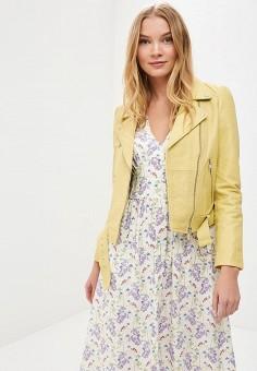 Куртка кожаная, La Reine Blanche, цвет: желтый. Артикул: MP002XW15J5H.