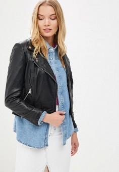 Куртка кожаная, La Reine Blanche, цвет: черный. Артикул: MP002XW15J5I.