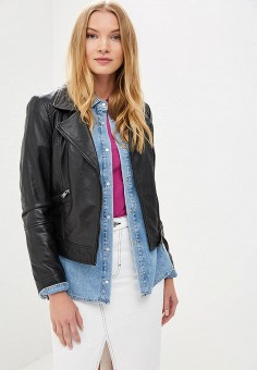 Куртка кожаная, La Reine Blanche, цвет: черный. Артикул: MP002XW15J5K.
