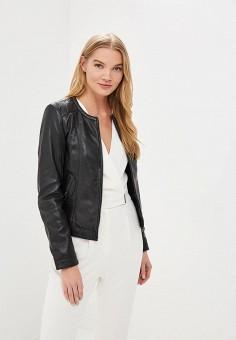 Куртка кожаная, La Reine Blanche, цвет: черный. Артикул: MP002XW15J5L.