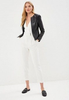 Куртка кожаная, La Reine Blanche, цвет: черный. Артикул: MP002XW15J5N.