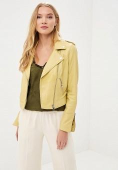Куртка кожаная, La Reine Blanche, цвет: желтый. Артикул: MP002XW15J5O.