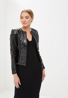 Куртка кожаная, La Reine Blanche, цвет: черный. Артикул: MP002XW15J5R.