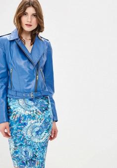 Куртка кожаная, Mondial, цвет: синий. Артикул: MP002XW15K31.