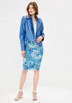 Куртка кожаная, Mondial, цвет: синий. Артикул: MP002XW15K31. Одежда / Верхняя одежда