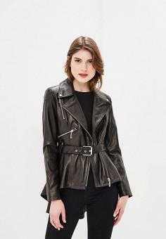 Куртка кожаная, Mondial, цвет: черный. Артикул: MP002XW15K32. Одежда / Верхняя одежда