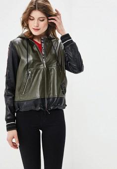 Куртка кожаная, Mondial, цвет: хаки. Артикул: MP002XW15K36.