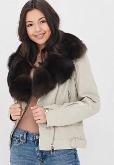 Куртка кожаная, Mondial, цвет: бежевый. Артикул: MP002XW15K37. Одежда / Верхняя одежда