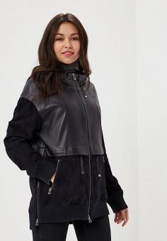 Куртка кожаная, Mondial, цвет: черный. Артикул: MP002XW15K38. Одежда / Верхняя одежда
