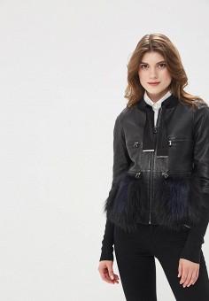 Куртка кожаная, Mondial, цвет: черный. Артикул: MP002XW15K3A.