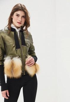 Куртка кожаная, Mondial, цвет: хаки. Артикул: MP002XW15K3B.