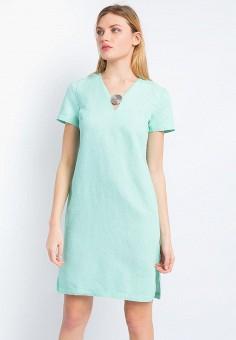 Платье, Finn Flare, цвет: бирюзовый. Артикул: MP002XW15KX2. Одежда