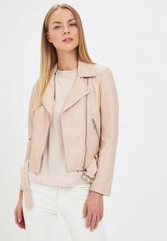 Куртка кожаная, La Reine Blanche, цвет: бежевый. Артикул: MP002XW16735. Одежда / Верхняя одежда / Косухи