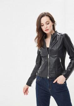 Куртка кожаная, La Reine Blanche, цвет: черный. Артикул: MP002XW16737.
