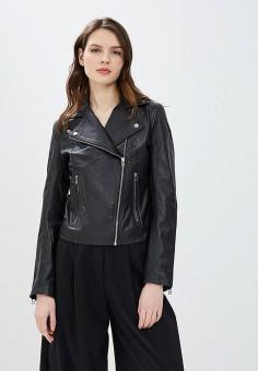 Куртка кожаная, La Reine Blanche, цвет: черный. Артикул: MP002XW16738.
