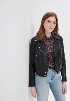 Куртка кожаная, La Reine Blanche, цвет: черный. Артикул: MP002XW16739.