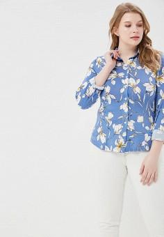 Блуза, Balsako, цвет: синий. Артикул: MP002XW170G9. Одежда