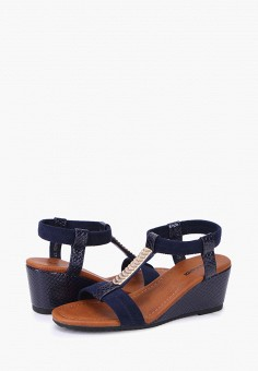 Босоножки, T.Taccardi, цвет: синий. Артикул: MP002XW170IF. Обувь / Босоножки