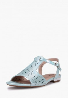 Сандалии, T.Taccardi, цвет: бирюзовый. Артикул: MP002XW170MC. Обувь / Сандалии