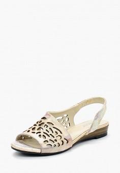 Сандалии, Vitacci, цвет: золотой. Артикул: MP002XW18VRI. Обувь / Сандалии