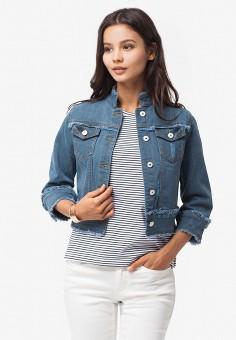 Куртка джинсовая, Vilatte, цвет: синий. Артикул: MP002XW195QC. Одежда