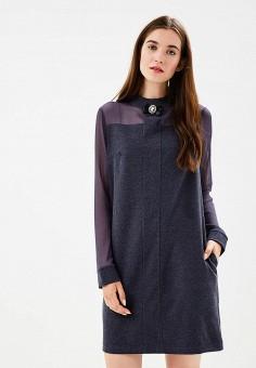 Платье, Vera Nova, цвет: серый. Артикул: MP002XW1971K. Одежда / Платья и сарафаны
