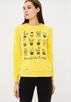 Свитшот, Barmariska, цвет: желтый. Артикул: MP002XW19AL8. Одежда / Толстовки и свитшоты