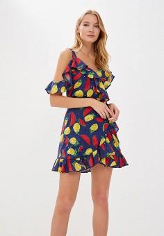 Платье, Self Made, цвет: синий. Артикул: MP002XW19ATF. Одежда / Платья и сарафаны