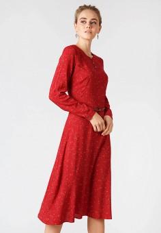 Платье, Finn Flare, цвет: красный. Артикул: MP002XW19ENO. Одежда / Платья и сарафаны