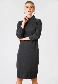 Платье, Finn Flare, цвет: серый. Артикул: MP002XW19EPP. Одежда / Платья и сарафаны